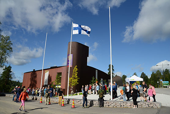 Finnish flag in the Haltia Nature Center
